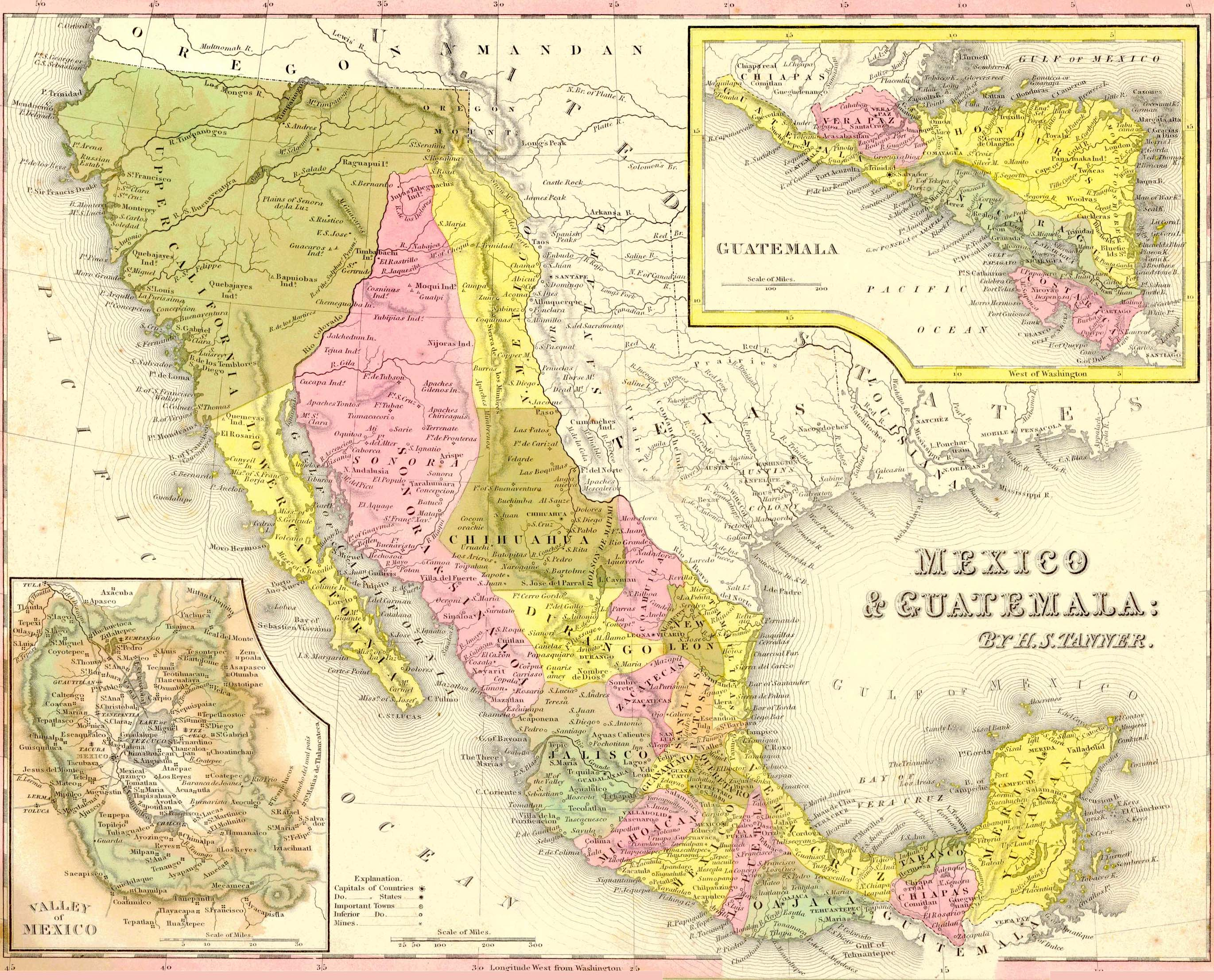 Mexico Map 1850.Image Seo All 2 Mexico Map Post 18