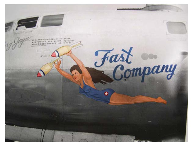 "Harry Hubbard's ""B 29 Nose Art"" - WW II Photos (Artists Unknown):"